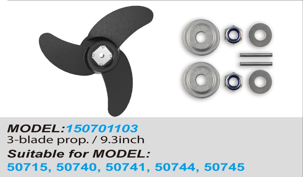 9,25 Zoll 2 Blatt Power Propeller Kit Trolling Motor  Außenbord Propeller